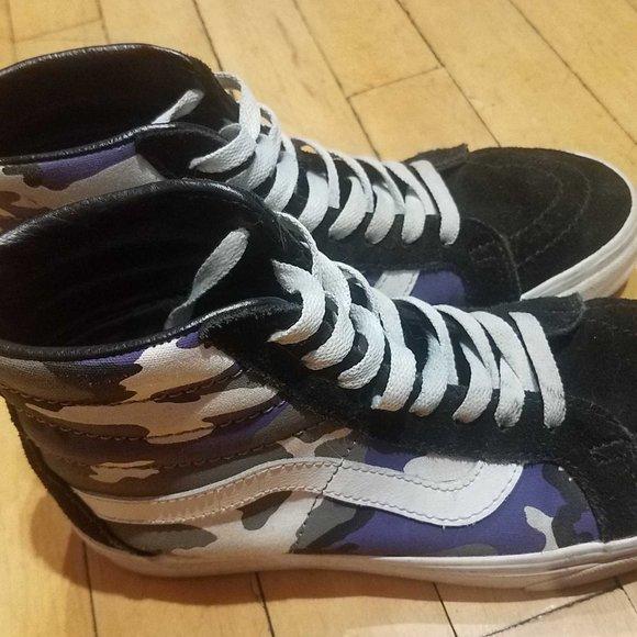 Vans Shoes | Vans Sk8 Hi Purple Black